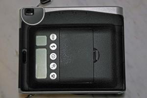 Il dorso della fotocamera con i controlli