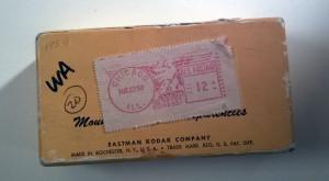 La scatolina rispedita da Kodak con le diapositive
