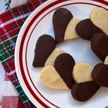 Chocolate Dipped Heart Cookies Italian Food Forever