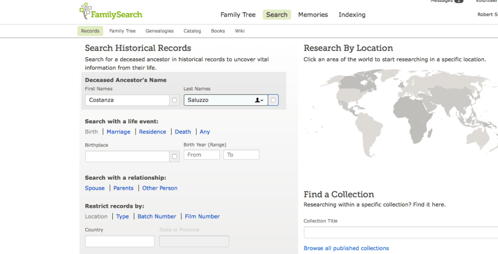 Finding Missing Records Using Family Search | Italian Genealogy