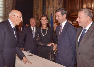 Il Presidente Napolitano alla cerimonia di commiato dei componenti il C.S.M. uscente e di presentazione dei nuovi componenti. Foto Presidenza della Repubblica