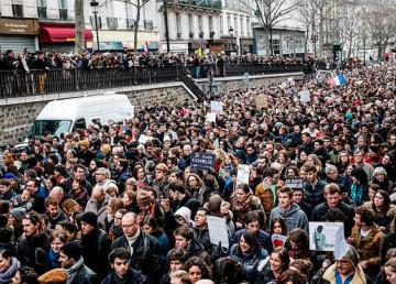 Il corteo dell'11 gennaio a Parigi. Foto: Yann Caradec from Paris, France
