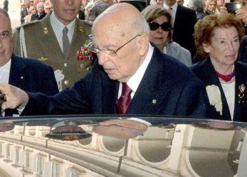 Il Presidente Napolitano lascia il Quirinale. Foto Quirinale