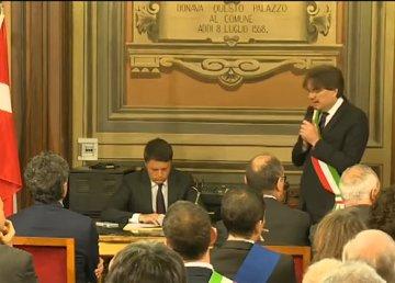 Asti, incontro di Renzi con i sindaci del territorio e le istituzioni locali Immagini messe a disposizione con licenza CC-BY-NC-SA 3.0 IT 08/11/2016