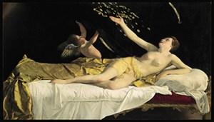 Opera di Orazio Gentileschi, Danae, 1621