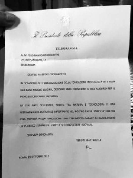 lettera_Presidente -Ferdinando Codognotto