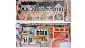 Il buono e il cattivo Governo, a L'Aquila, in un affresco del SEC. XV nella chiesa Capoquarto di S. Pietro a Coppito