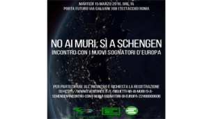 Paolo Acunzo - No ai Muri - Si a Schengen - 350X200