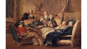 Lettura di Moliere nel salotto di Medetecin Jean Francois de Troy, 1728 ca