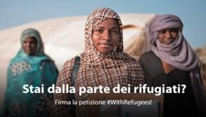 Stai con i Rifugiati - Firma la Petizione - www-unhcr-org - 350X200