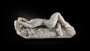 Jacques Loysel, La Grande Névrose, white marble, circa 1896