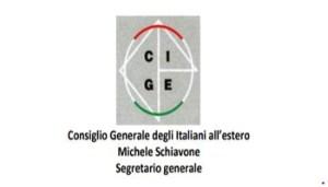 CGIE - Logo - Consiglio Generale degli Italiani all'Estero - Michele Schiavone - Segretario Generale - 350X200 - Cattura
