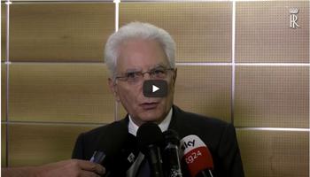 DICHIARAZIONE DEL PRESIDENTE MATTARELLA A GENOVA