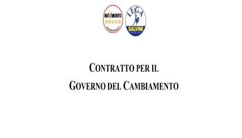 CONTRATTO PER IL GOVERNO DEL CAMBIAMENTO