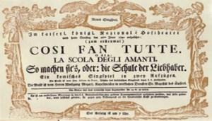 Così Fan tutte, Opera di W. Amadeus Mozart