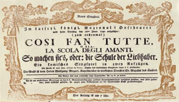 "<font color=""#FF0000""> ""COSÌ FAN TUTTE"" , OPERA BUFFA DI MOZART </font>"