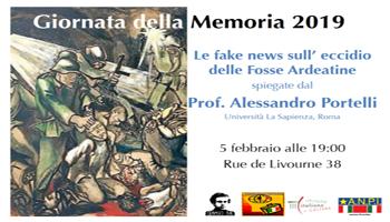 Incontro: Fake News Sull'Eccidio Delle Fosse Ardeatine 5/02/19