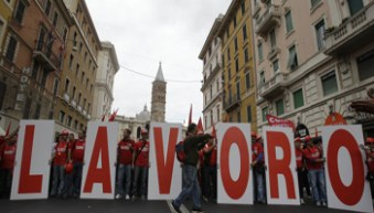 Italy Metal Workers Protest