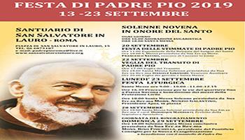 FESTA DI SAN PIO DA PIETRELCINA  A ROMA