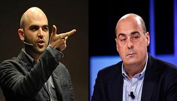 """Saviano accusa Zingaretti: """"Il tuo Pd ha finanziato i trafficanti di uomini"""""""