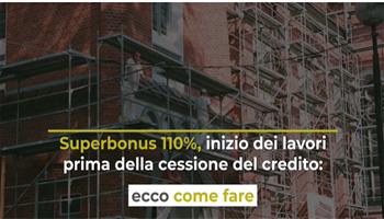 Superbonus 110%, sconto in fattura o cessione del credito: opzione entro marzo
