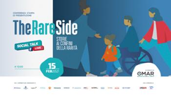 """""""#TheRAREside, Storie ai confini della rarità"""", Social Talk live di 10 puntate, con 13 ospiti, che Osservatorio Malattie Rare (OMaR)"""