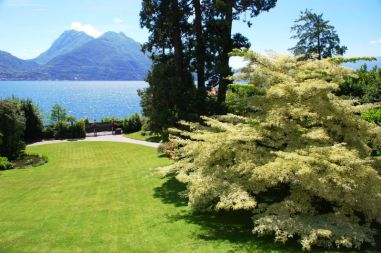 Beautiful view of Lake Como from the garden of the villa