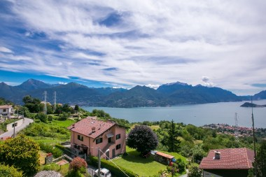 View from the house of Lake Como and Bellagio