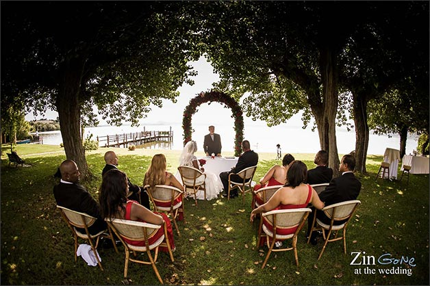 Wedding Ceremony An Intimate Blessing Between Lake