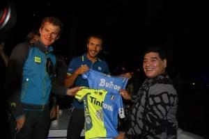 Maradona e il team Tinkoff