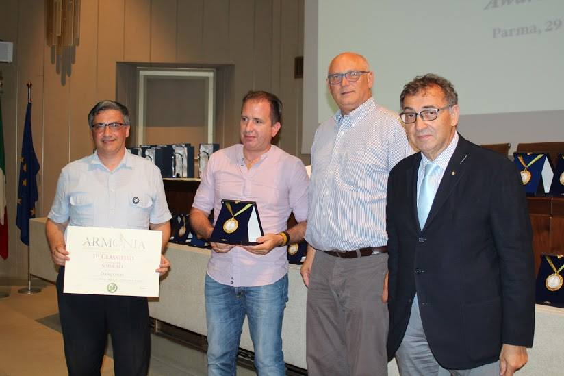 La premiazione della birra Draconis di Pisa al concorso L'Armonia