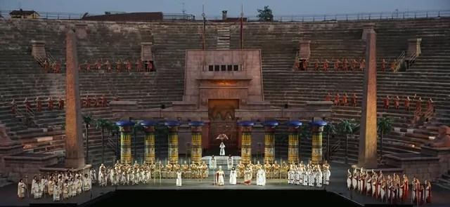 Domenica 14 agosto all'Arena di Verona l'Aida di Giuseppe Verdi