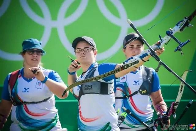 Guendalina Sartori, Lucilla Boari e Claudia Mandia alle Olimpiadi di Rio 2016