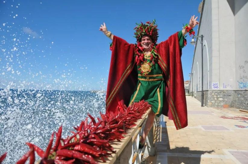 Sua Maesta il Peperoncino, re del Peperoncino festival che si terrà a Diamante dal 7 all'11 settembre.