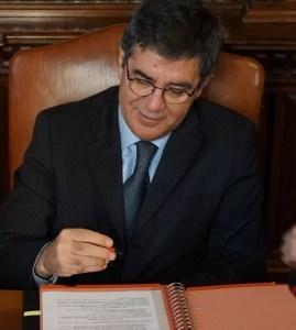 Sopra, Paolo M: Reale, Rettore del Convitto Nazionale Vittorio Emanuele II, di Roma.