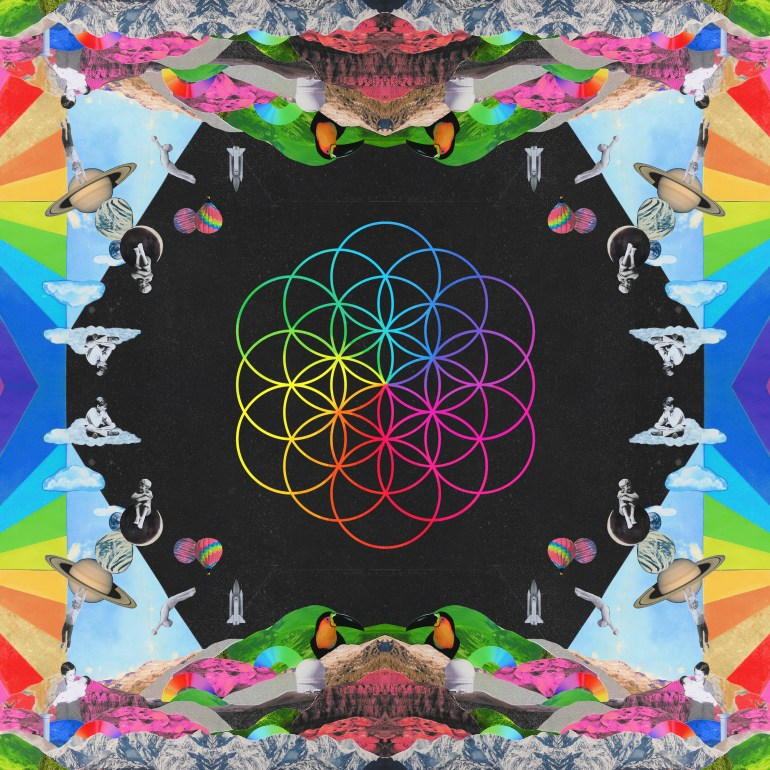 La cover di A head full of dreams, realizzato dai Coldplay nel 2015.