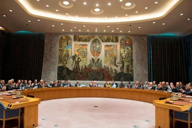 Il 6 ottobre 2016 i componenti del Consiglio di sicurezza dell'Onu hanno applaudito alla decisione all'unanimità di raccomandare all'Assemblea generale la nomina di António Guterres come prossimo Segretario generale (ph. Onu)