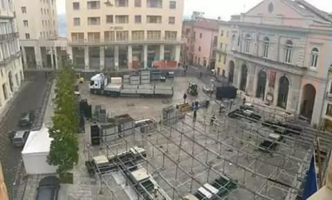 Piazza Mario pagano a Potenza, dove si terrà l'evento Rai del Capodanno 2017 (ph