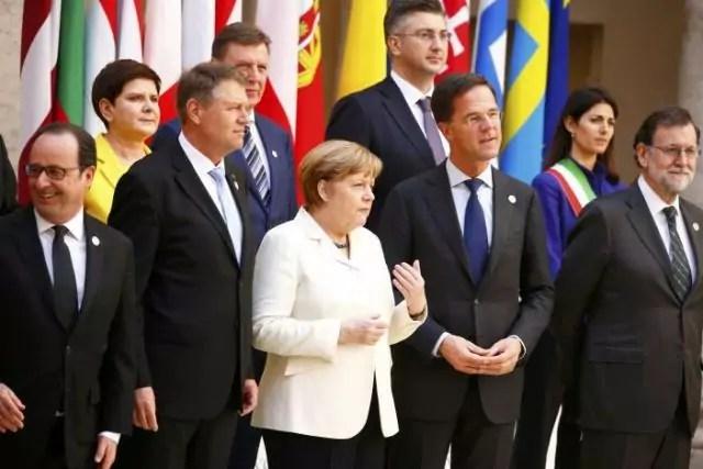 Trattato di Roma foto ricordo dei leader Eu