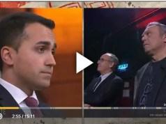 Durante l'intervista con Di Maio su Di martedì Giovanni Floris e Massimo Franco sono stati posseduti dalla Meli e da Romano in diretta tv.