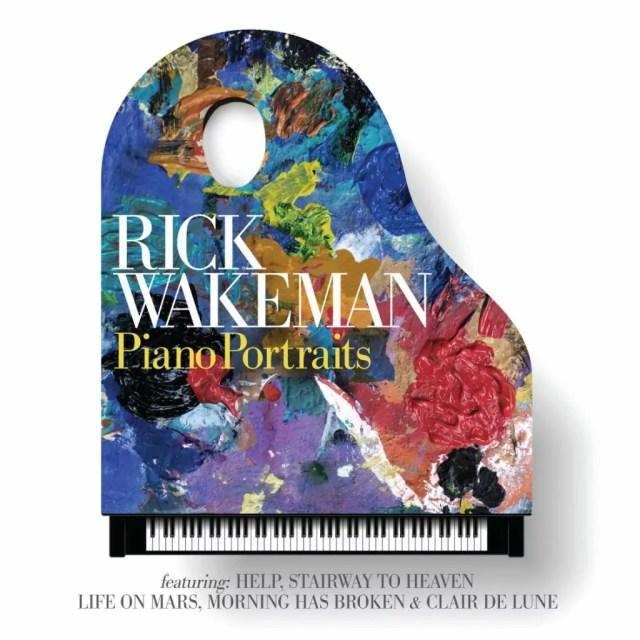 La copertina di Piano Portraits di Rick Wakeman.
