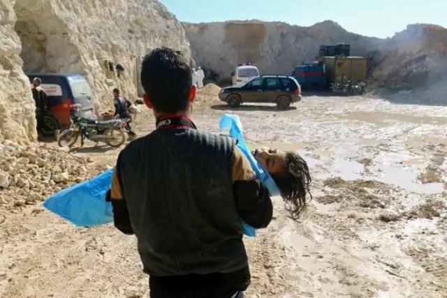 Bombe chimiche Siria bambino