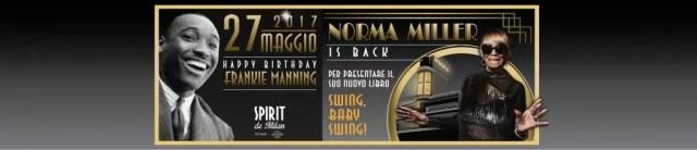 Norma Miller, icona del Lindy hop, si esibisce allo Spirit de Milan il 27 maggio prossimo.