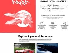 La home page del nuovo portale Motor web museum, realizzato dalla Rete Città dei Motori.