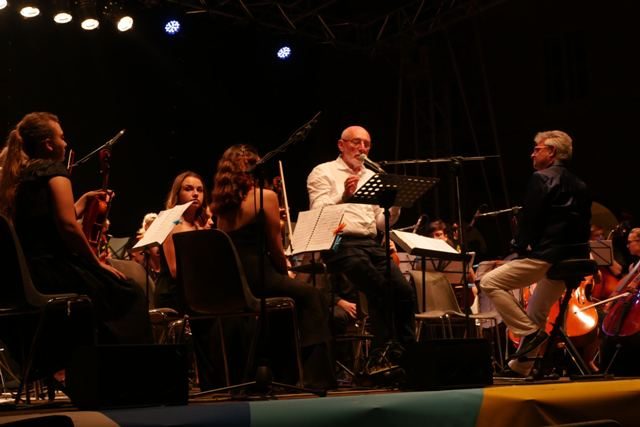 Paolo Rumiz e European Spirit of youth orchestra Vittoriano