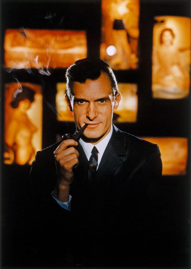 Hugh Hefner, il fondatore di Playboy.