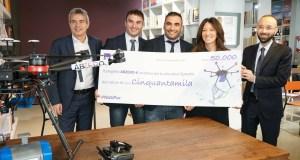 Un premio di 50 mila euro offerto da Axa è andato ad Abzero, la startup che vuole sviluppare il drone che trasporta sangue ed emoderivati.
