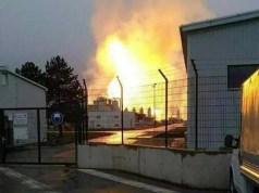 Il sito di Baumgarten in Austria esploso oggi (ph. Afp).