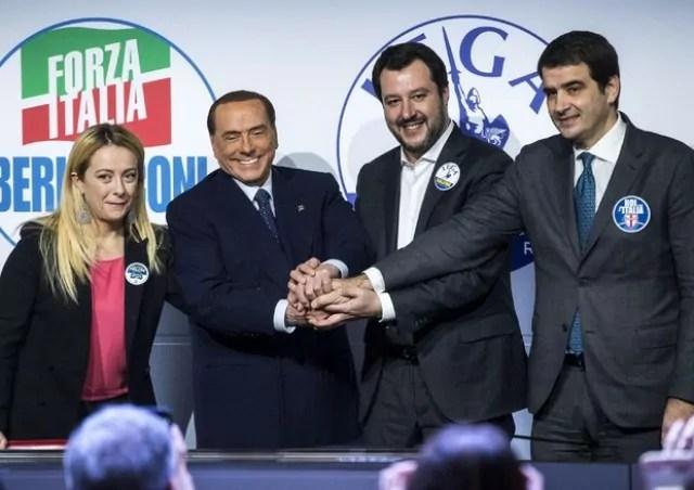 Centrodestra Salvini Berlusconi Meloni