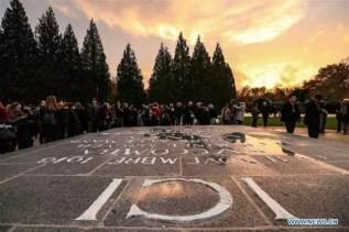 Compiegne, in Francia: la celebrazione dei 100 anni dall'armistizio che terminò la Prima guerra mondiale l'11 novembre 1918.